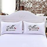 Coppia di Federe Sundlight 50x75cm Idee regalo romantico per il giorno di San Valentino di nozze di...