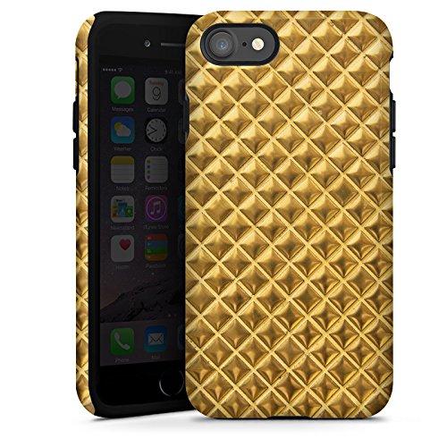 Apple iPhone X Silikon Hülle Case Schutzhülle Nieten Gold Muster Tough Case glänzend