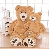 MorisMos Groß Teddybär Spielzeug Puppe Weiches Plüsch Braun 160cm - 5