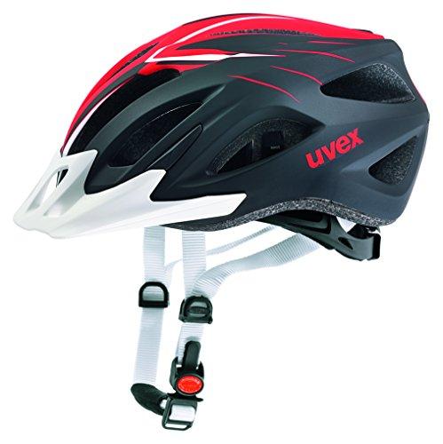 Uvex Fahrradhelm Viva 2, Scream White-Red Mat, 52-57, 4101041315