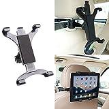 Tablet/Ipad Halterung für die Kopfstütze im Auto, für Ipad und Samsung Galaxy Tablets von 7 bis 10.2 Zoll, Halter im KFZ, mit 360 Grad-Rotation.