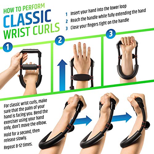 SYGA Muscular Wrist Forearm Hand Grip Exerciser Strength Training Force  Fitness Equipment