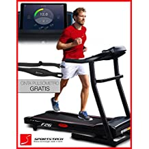 Sportstech F26 cinta de correr profesional con control de Smartphone App + cinturón de pulso en valor de 39.90 € incluido + MP3 AUX Bluetooth 4 HP 16 kmh Formación HRC - plegable