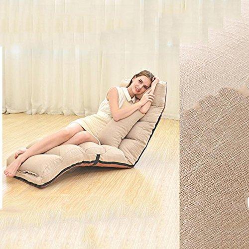 Stühle FEI Bequem Moderne Chaiselongue Freizeit Faul Sofa Moderne künstliche Boden Bett Stark und langlebig (Farbe : Khaki)
