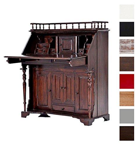 Braun Kolonialstil (CLP Holz-Sekretär NANCY aus Mahagoni-Holz, handgefertigt, im klassischen Kolonialstil Braun)