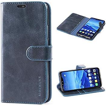 70cbefcdd86c6 Mulbess (Vintage bookstyle) Premium Handy Schutzhülle Ledertasche im  Kartenfach für Huawei Mate 20 Lite (6.3 Zoll) Tasche Hülle Leder Etui  Schale