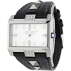 Police Elevation Men's Quartz Watch with Silver Dial Analogue Display and Black Strap PL.13662JS/04