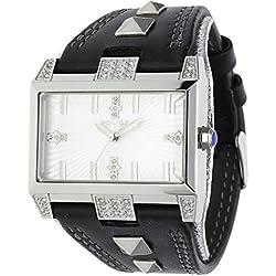 Police Elevation Herren Armbanduhr mit silber Zifferblatt Analog-Anzeige und schwarz PL. 13662JS/04