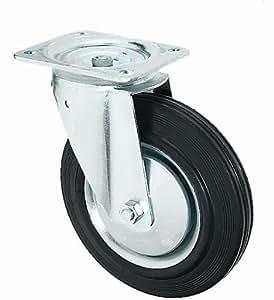 Transportrolle lenkbar 100mm Gummibereifung NEU