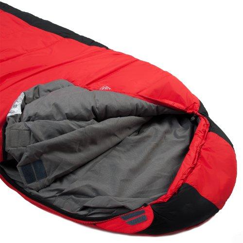 LESTRA Schlafsack Mount Everest Premium RV Links, Rot/Schwarz, 210, SSMTEDV23G - 2