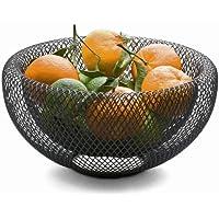 Philippi Cuenco de red + cesta para pan 153002,Lcuenco decorativo, acero, color negro, 25x 25cm