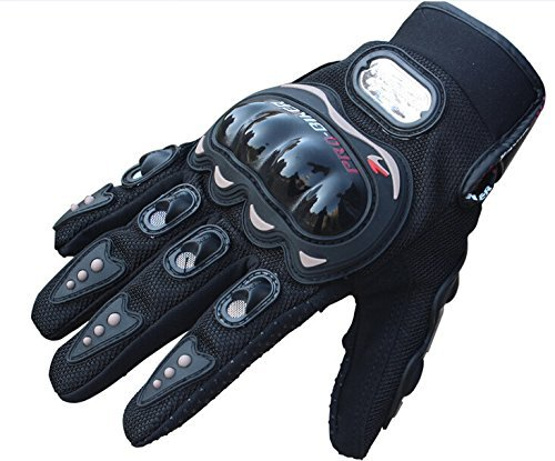 Beehive Filter Aftermarket Black Motocross Racing Pro-Biker Motorcycle Motorbike Cycling Full Finger Gloves (M(for Womens))