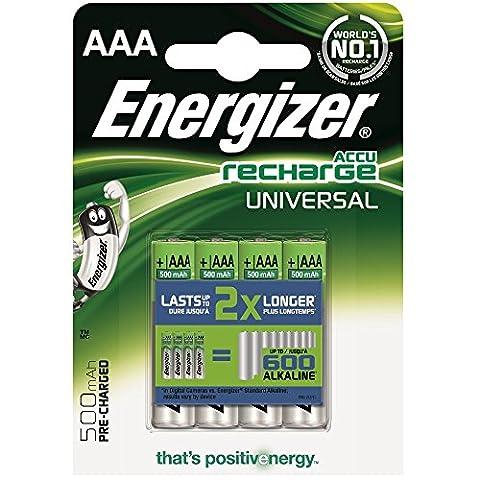 Energizer 638624AAA 500mAh piles rechargeables de 4