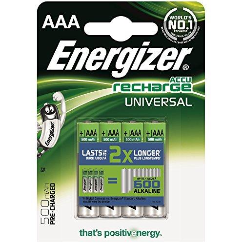 Energizer 638624 AAA 500 mAh batterie ricaricabili in Cartoncino 4