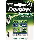 Energizer 638624AAA 500mAh Baterías recargables, 4unidades)