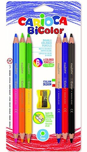 Carioca bi-color multi 6pezzo(i) pastello colorato