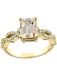 14ct blanco/oro amarillo Natural colgantes anillo de la eternidad del diamante 9 x 7 mm charreria acento de 0,95 cm de ancho, de tallas J - T
