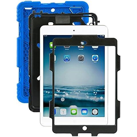 iPad Mini 1/2/3caso, ACEGUARDER® para niños Slim Militar Heavy Duty Smart Cover función atril a prueba de golpes Prueba de Niños Resistente al agua drop resistencia con función atril para Apple iPad Mini 1/2/3
