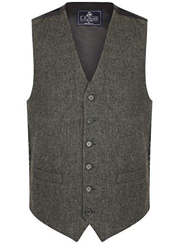 Herren Weste Grau Tweed Design (Größe XL)