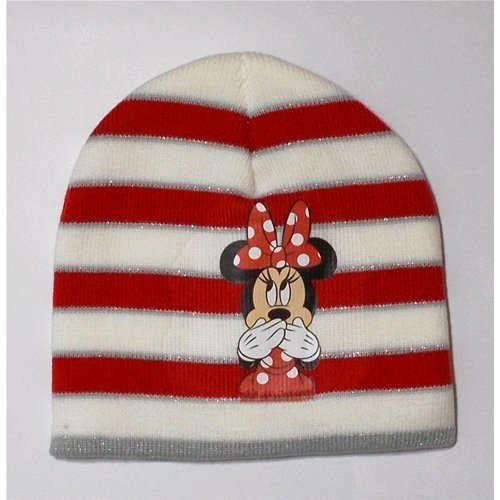 Cappello invernale bambino minnie disney 3/10 anni - d12229 bianco