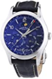 Armand Nicolet Men's Automatic Watch with Blue Dial Analogue Display and Blue Leather Strap 9742B-BU-P974BU2