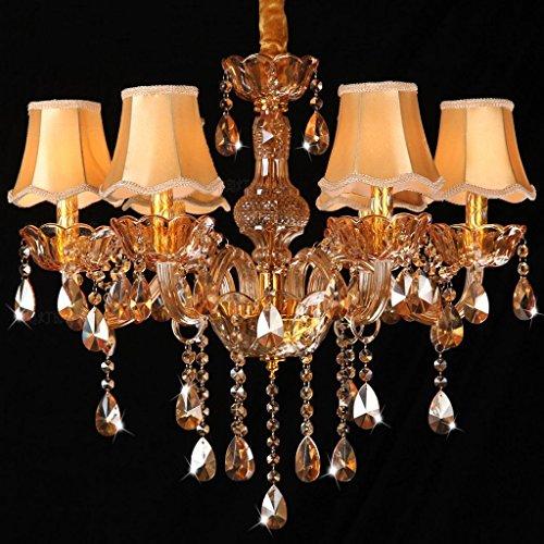 Amos Araña Color ámbar Candela Oro candelabro Cristal