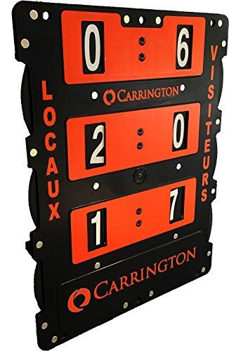 Tennis Anzeigetafel, Spielstandanzeiger 60x46 cm aus Kunststoff, schwarz/orange