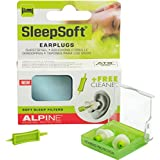 Alpine SleepSoft - Tapones para los oídos (para dormir, limpiador gratis)