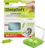 Alpine SleepSoft - Ohrstöpsel zum Schlafen & Dämpft Schnarch-Geräusche, Gratis Cleaner -