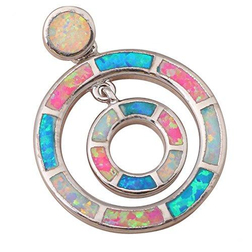 Bling fashion S Regali Ciondolo Collana in argento Sterling 925gioielli per donne alla moda Color Opale di fuoco op479a