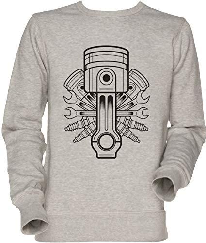 Vendax Kolben Lable Unisex Sweatshirt Grau