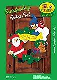 Fischer Fensterbild FROHES FEST / Bastelpackung / 41x44 cm / zum Selberbasteln / Basteln zu Weihnachten aus Papier und Pappe