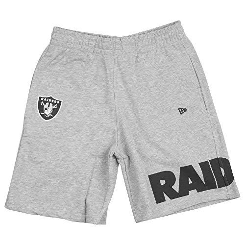 New Era NFL Wrap Around Oakland Raiders Short Herren hellgrau, L Herren-wrap-around