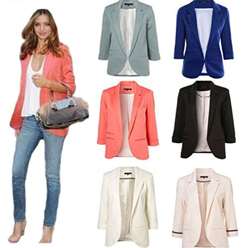 Saoirse Women Slim 3/4 Sleeve Jacket Blazer Jacket Short Jacket