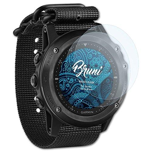 Bruni Schutzfolie für Garmin Tactix Bravo Folie, glasklare Bildschirmschutzfolie (2X)