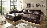 BIG Sofa -Vintage Dunkelbraun - Links ( auch Sondermaße möglich )