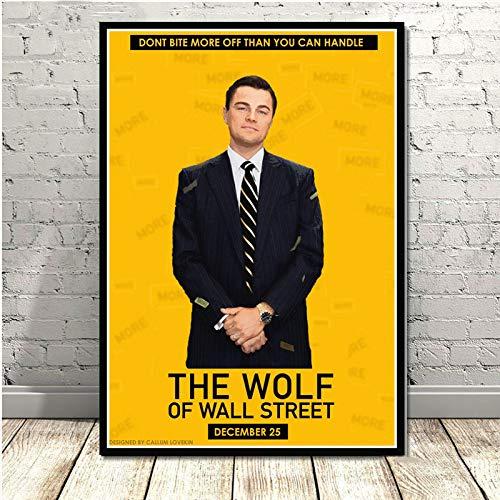 yhyxll The Wolf of Wall Street Leonardo DiCapri Serie TV Dipinti Art Poster e Stampe Immagini a Parete per Soggiorno Home Decor L 60X90CM