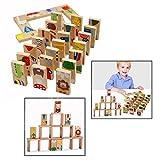 OFKPO 28 Stück Tiere Farbige Holzpuzzle,Kinder Holz Pädagogisch Spielzeug