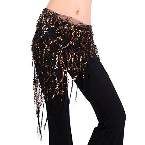 BOBORA Costume di danza del ventre Hip sciarpa triangolo paillettes (Sciarpa Danza Del Ventre Costume Cintura)