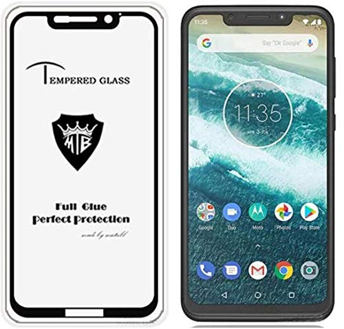 Moto One Power Original Premium Motorola Moto One Power Tempered Glass – Magic Premium 5D Full Glue Moto One Power Tempered Glass, Full Edge-Edge 5D Screen Protection for Moto One Power (Black)