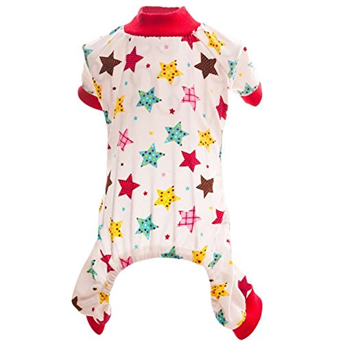 iere Hund Kleidung Tragen, Liebenswürdig, Shirt Puppy Sleep Pyjama Bekleidung Hund Jumpsuit Kleidung Liebenswürdig, Pet Shirt Weiche Baumwolle Hunde Shirts (Welpen Bauch Baby Kostüm)