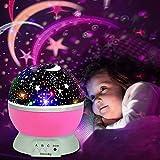 Projektor Lampe, Omitium LED Sternenhimmel Projektor Nachtlicht 360° Drehbare Kinder Lampe Einschlafhilfe mit Farbspiel, Perfekt für Kinderzimmer, Schlafzimmer, Geburtstag, Parteien, Weihnachten-Rosa