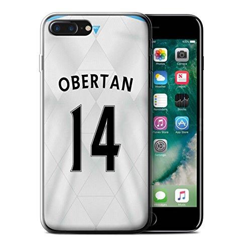 Officiel Newcastle United FC Coque / Etui Gel TPU pour Apple iPhone 7 Plus / Pack 29pcs Design / NUFC Maillot Extérieur 15/16 Collection Obertan