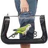 Sac De Transport pour Oiseaux Transparent en PVC Sac à Main Perroquet pour Oiseaux Hamster, Rat, Gerbilles Bagage Voyage Transporteur Animal