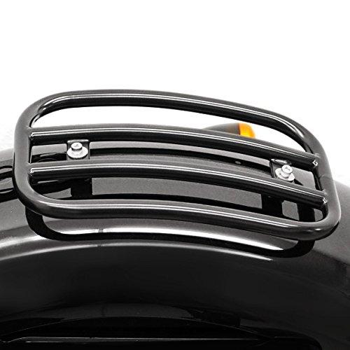 Preisvergleich Produktbild Gepäckträger Beifahrer-Rack Fehling für Harley Davidson Sportster Forty-Eight 48 (XL 1200 X) 10-18 schwarz