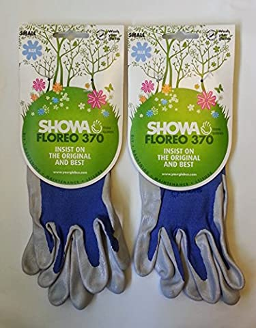 2 x Pairs Showa Floreo 370 Lightweight Gardening Gloves - Small