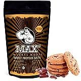 MAX MUSKEL MÜSLI Whey Protein Oats Müsli Haferflocken fein viel Eiweiß Porridge ohne Zucker-Zusatz & Nüsse, fettreduziert Sportlernahrung Muskelaufbau & gesundes Frühstück 500g Beutel Schoko Cookie