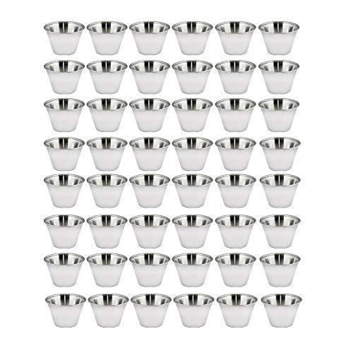 Kosma Set aus 48 Edelstahl Condiment Cups | Töpfe Dish | Saucenbecher | Sauce Salat Dressing Cups - 4 oz / 115 ml -