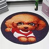 IMON LL TappetiTappeti Rotondi per Bambini/Bambini, Simpatici tappeti Rotondi per Animali Domestici,1,100 * 100cm