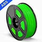 SUNLU 3D Printer Filament ABS, 1.75mm ABS 3D Printer Filament, 3D Printing Filament ABS for 3D Printer, 1kg, Green